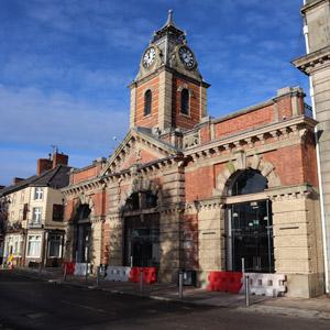 outside Crewe Market Hall